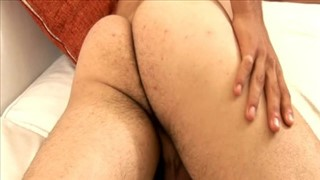 Brown Hunk Masturbates On His Couch