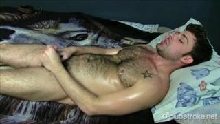 Tattooed Straight Guy Adam Masturbating