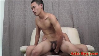 Young asian twinks love bareback anal sex