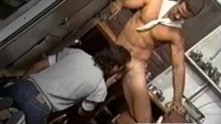 Gay Kitchen Threeway from SEX LUNCH (1985)
