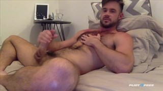Mike De Marko Beating Off in His Bed