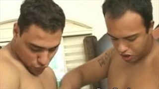 Military Latino gay barebacking