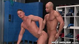Big dicks in the locker room