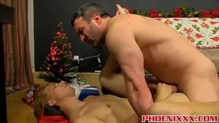 Uniform gay men putting cock into the asshole