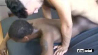 geje Arab and ebony twink bareback drilling