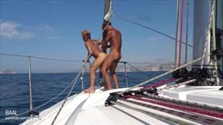 Gay fuck at the sea