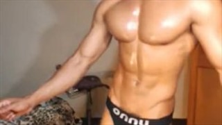 Hairy guy playing his dick