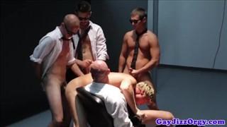 Three gay men suck and fuck