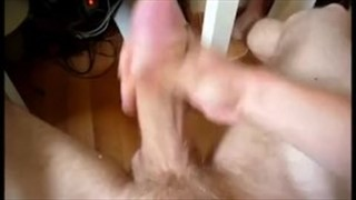 Horny cock wanking before bedtime